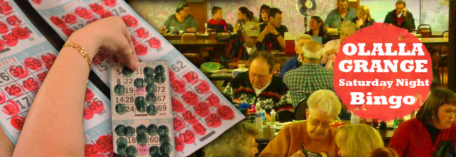 Olalla Grange Bingo every Saturday